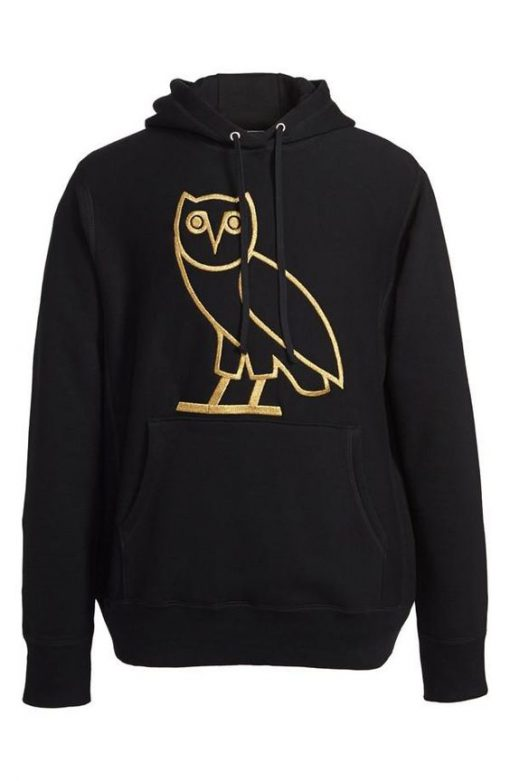drake owl hoodie black