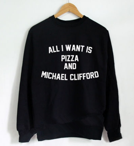 All I Want Is Pizza And Michael Clifford 5SOS Sweatshirt