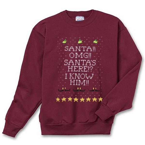 OMG Santa Here I Know Him Sweatshirt