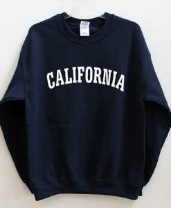 California Graphic Print Sweatshirt