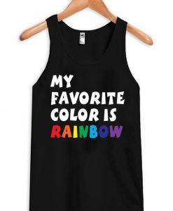 My Favorite Color Is Rainbow Tanktop