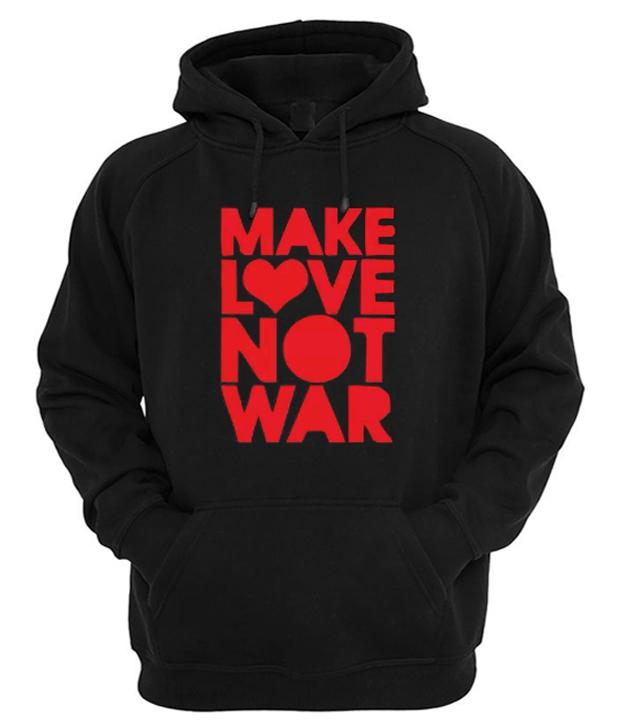 Make Love Not War Graphic Hoodie