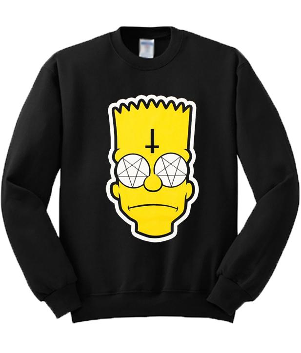 Satanic Bart Simpson Sweatshirt