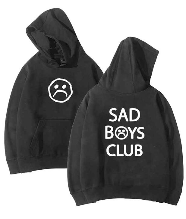 Sad Boys Club Front and Back Print Hoodie