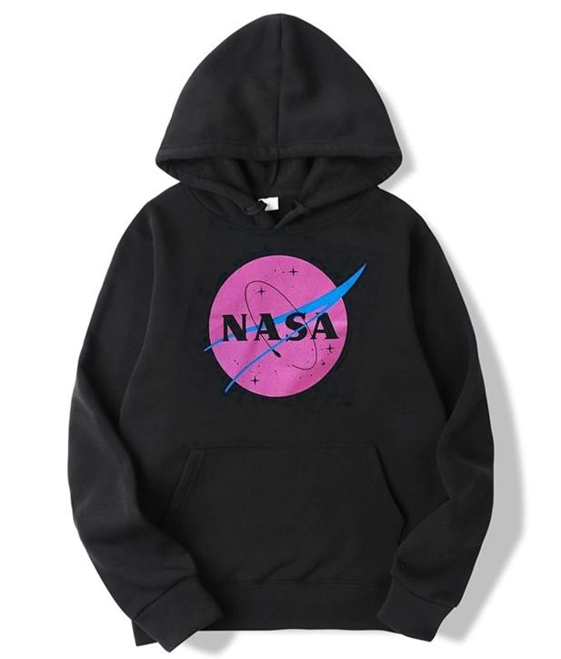 Nasa Pink Logo Hoodie