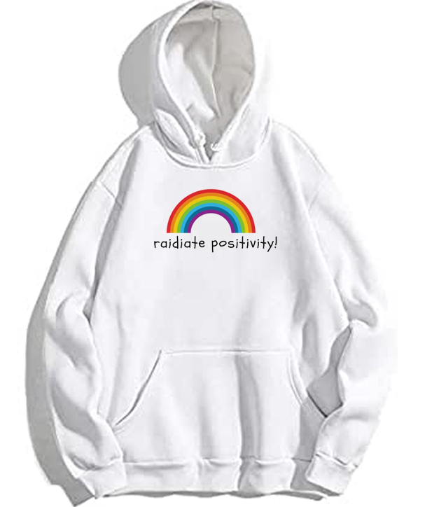 Radiate Positivity Rainbow Pullover Hoodie